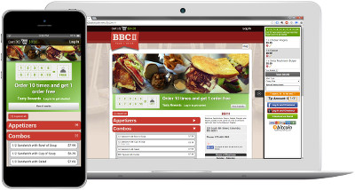 Mobile and tablet friendly online ordering restaurant websites